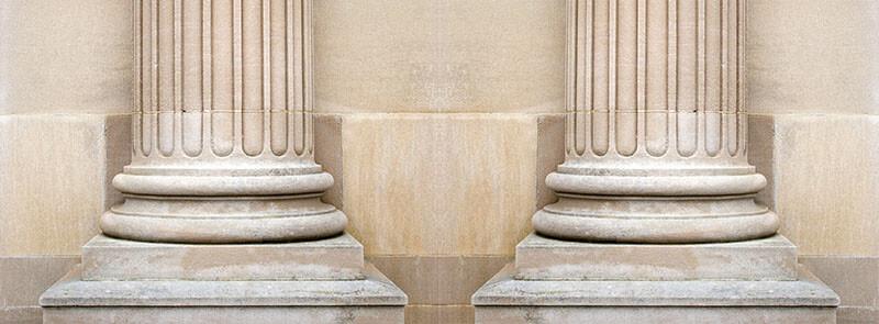Ein glückliches Leben steht auf zwei Säulen